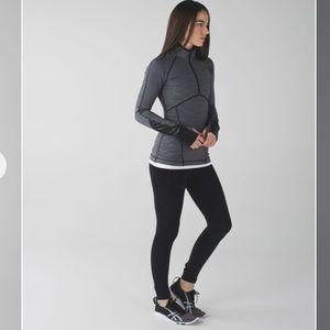 Lululemon kriss cross 1/2 zip soup cycle jacket